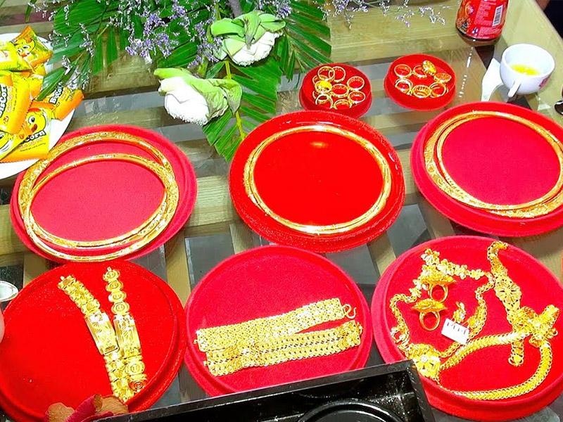 Của hồi môn là một trong những nghi thức truyền thống trong ngày rước dâu