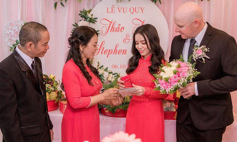 Lễ gia tiên ở nhà gia đình cô dâu vô cùng quan trọng