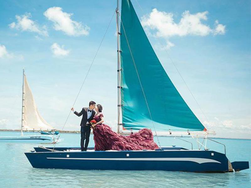 chụp ảnh cưới tại du thuyền