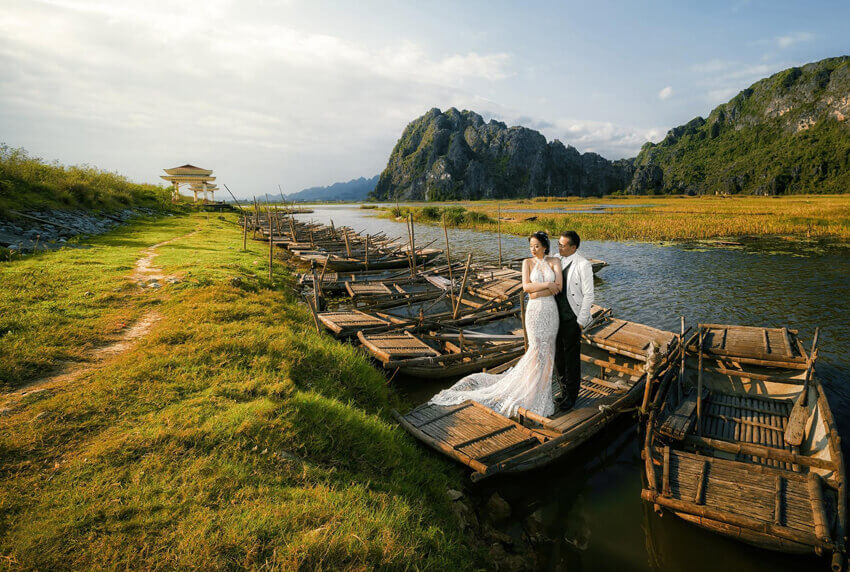 Đầm Vân Long - địa điểm chụp ảnh cưới Ninh Bình