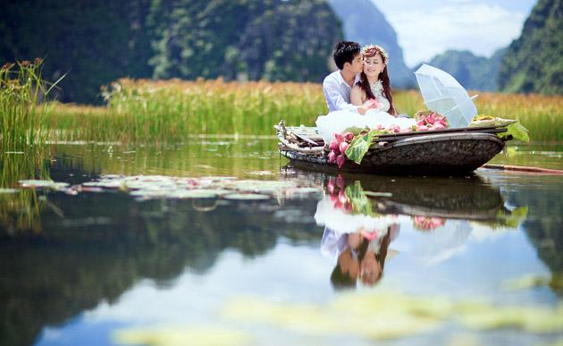 Địa điểm chụp ảnh cưới siêu nên thơ tại Ninh Bình - Tam Cốc