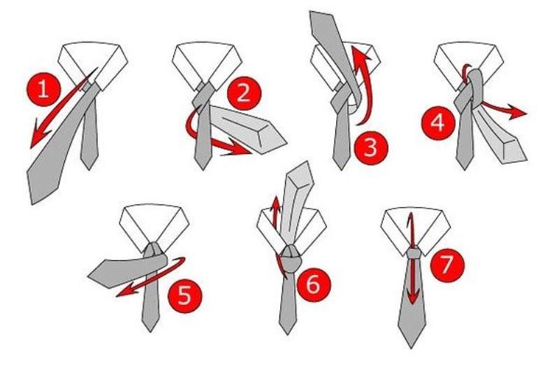 Cách thắt cà vạt cho chú rể kiểu Half windsor